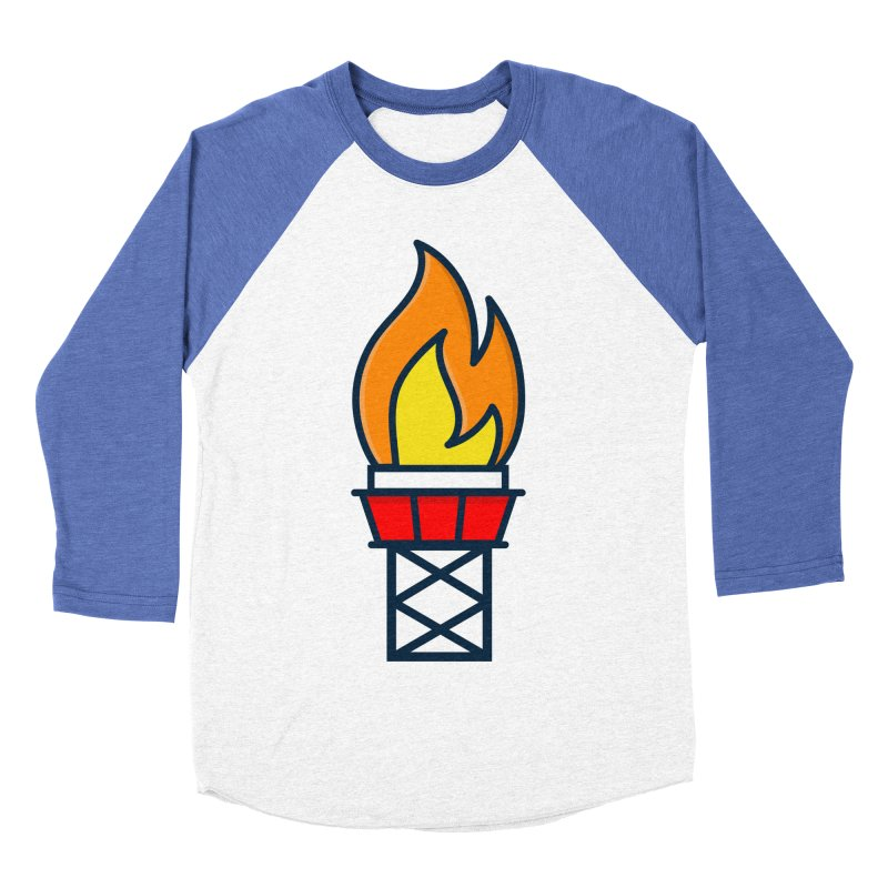 Olympic Torch Women's Baseball Triblend Longsleeve T-Shirt by