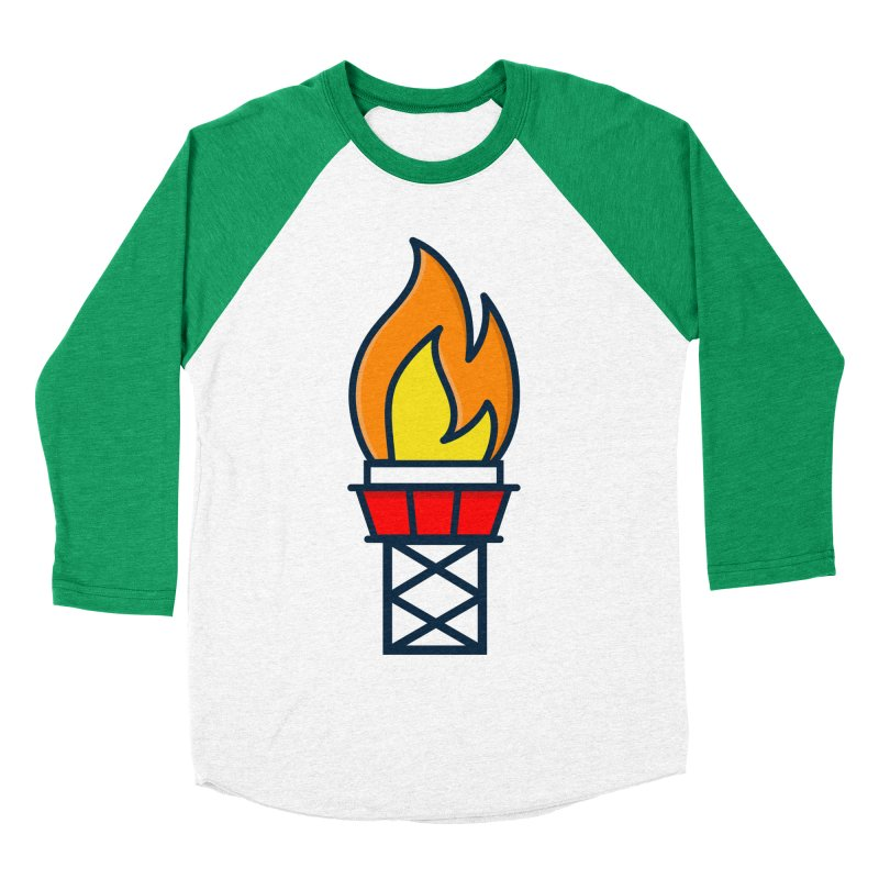 Olympic Torch Women's Baseball Triblend Longsleeve T-Shirt by