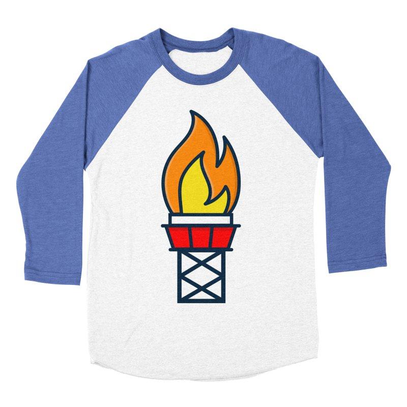 Olympic Torch Men's Baseball Triblend Longsleeve T-Shirt by