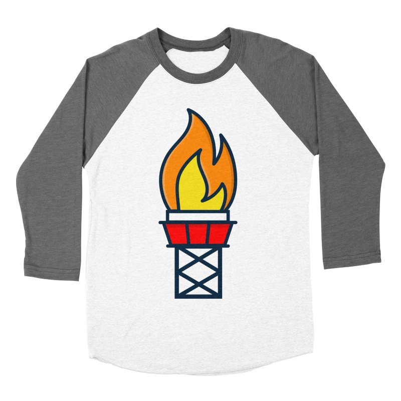 Olympic Torch Men's Baseball Triblend Longsleeve T-Shirt by
