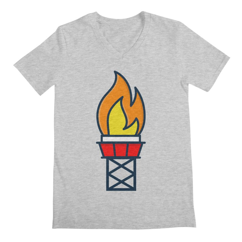 Olympic Torch Men's Regular V-Neck by