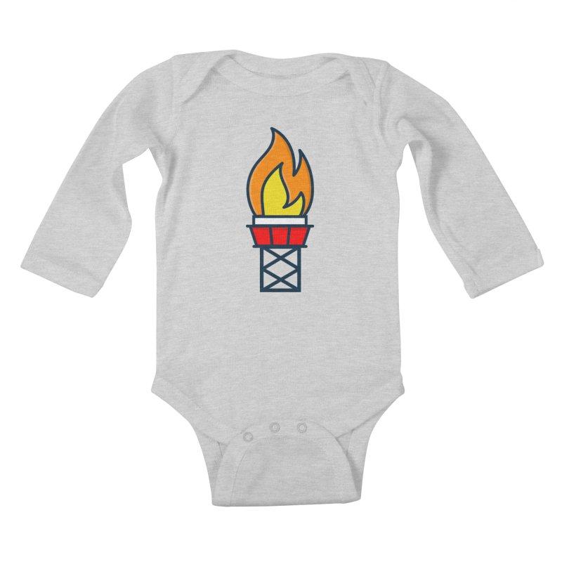 Olympic Torch Kids Baby Longsleeve Bodysuit by