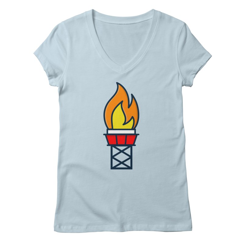 Olympic Torch Women's V-Neck by