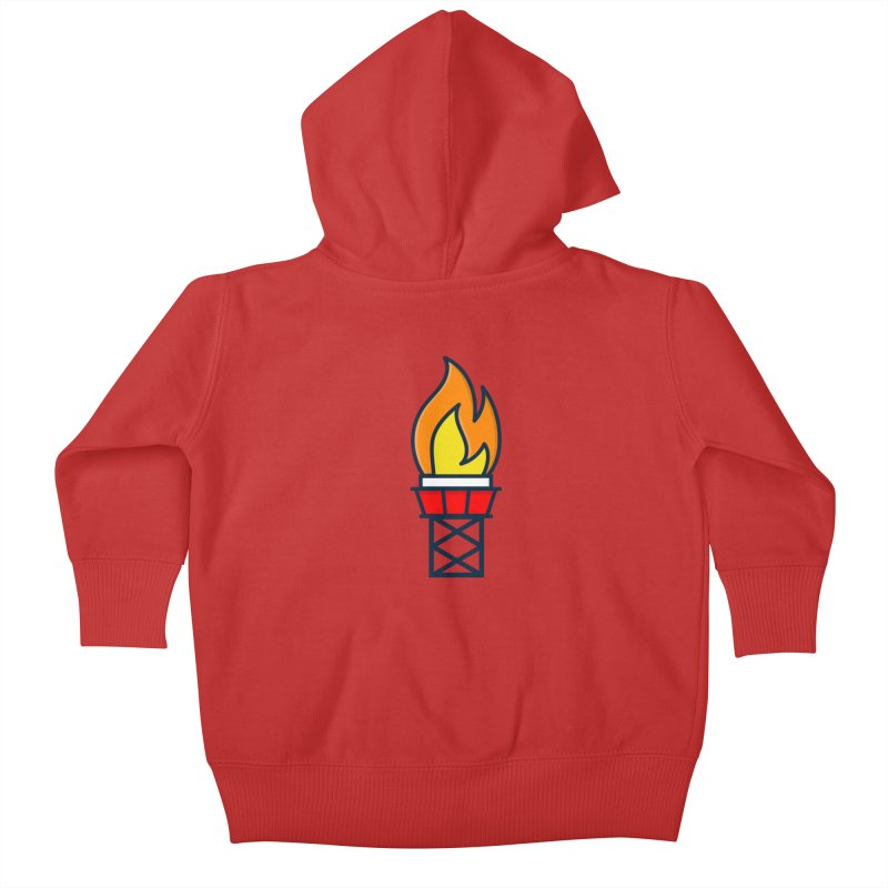 Olympic Torch Kids Baby Zip-Up Hoody by