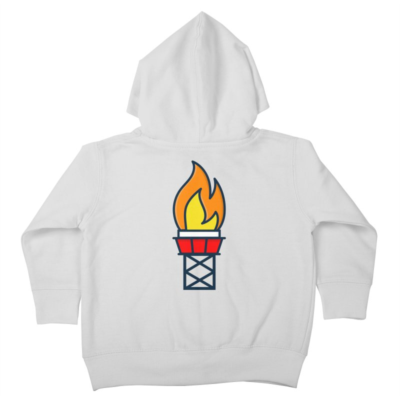 Olympic Torch Kids Toddler Zip-Up Hoody by