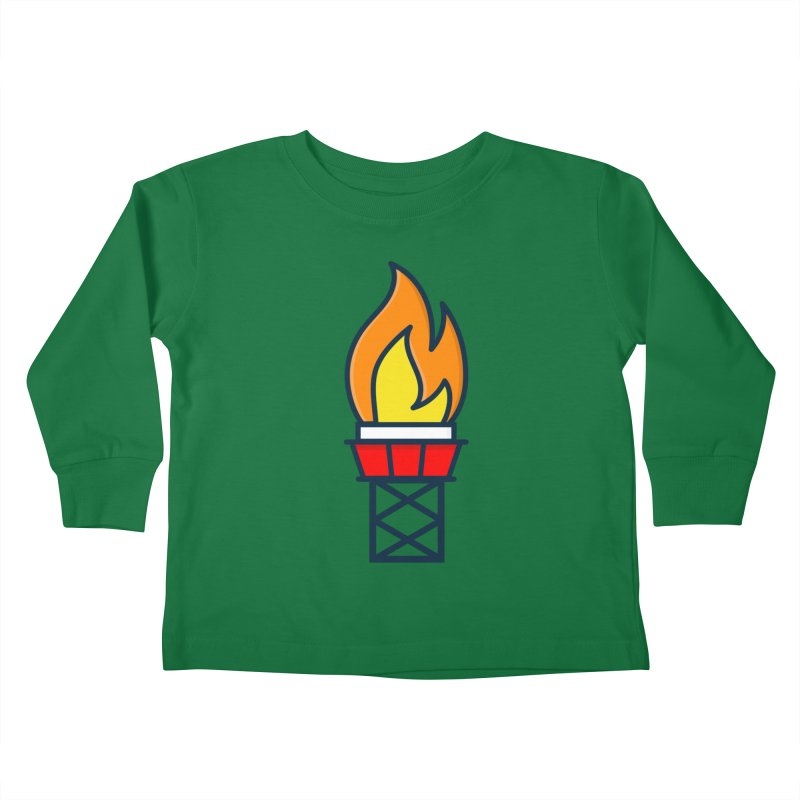 Olympic Torch Kids Toddler Longsleeve T-Shirt by