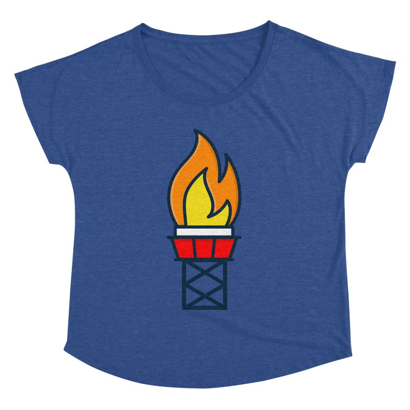 Olympic Torch Women's Dolman Scoop Neck by