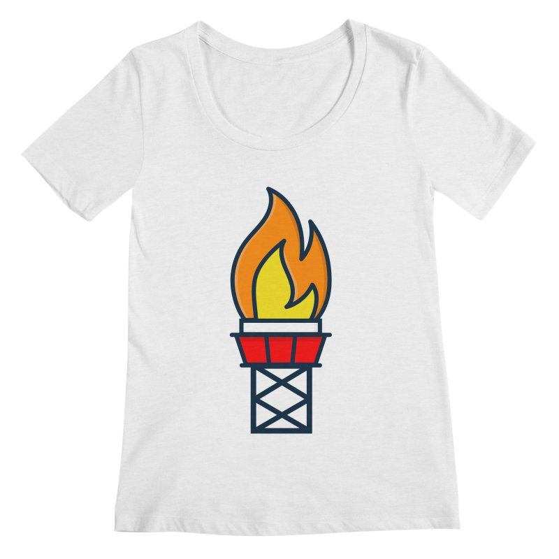 Olympic Torch Women's Regular Scoop Neck by