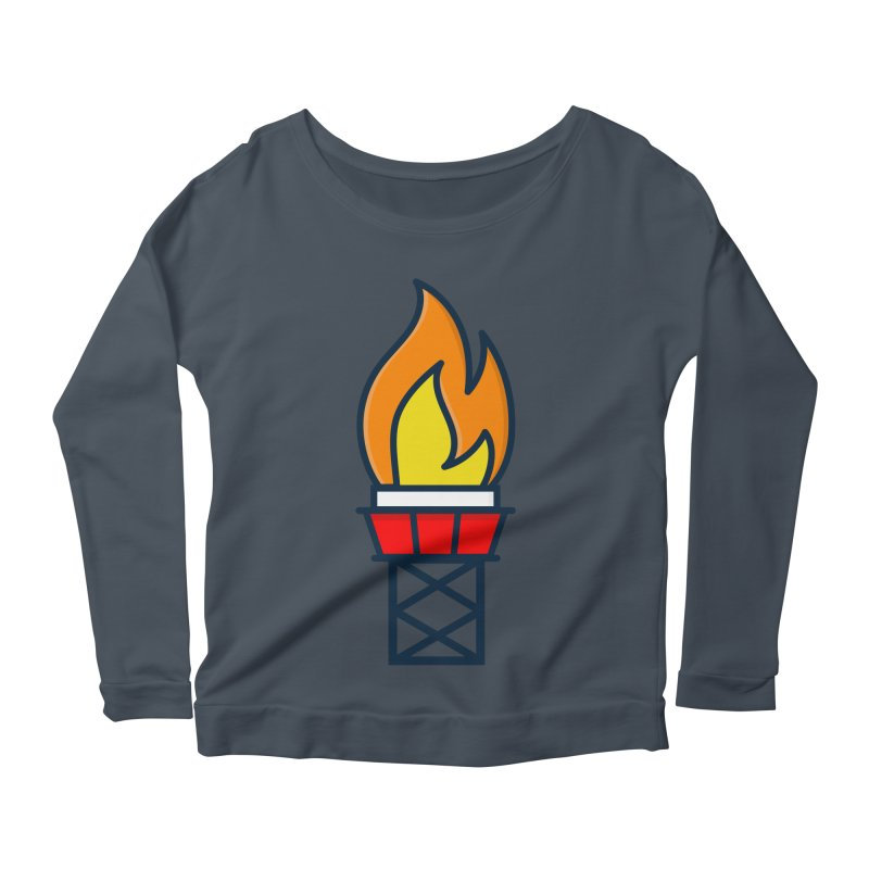 Olympic Torch Women's Scoop Neck Longsleeve T-Shirt by