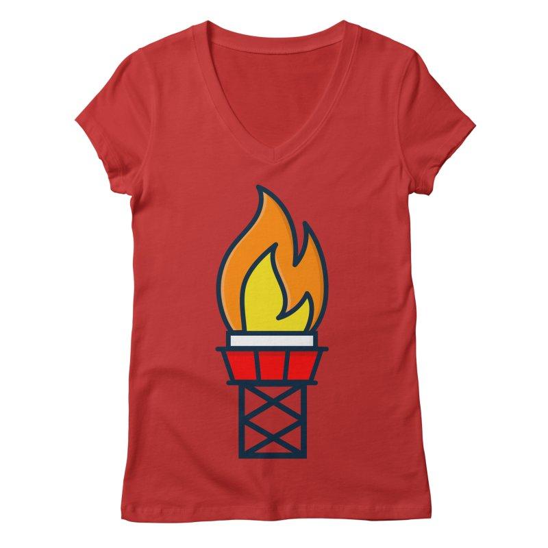 Olympic Torch Women's Regular V-Neck by