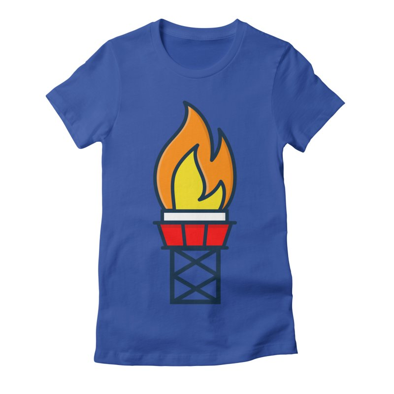 Olympic Torch Women's Fitted T-Shirt by