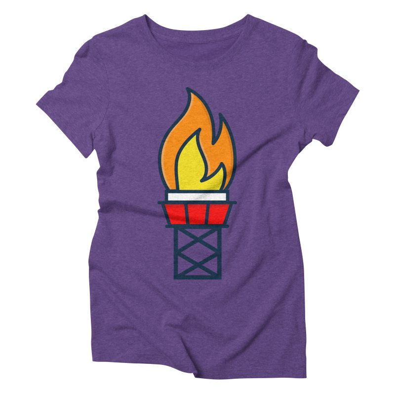 Olympic Torch Women's Triblend T-Shirt by