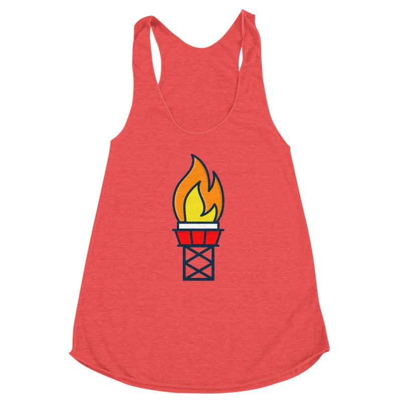 Olympic Torch Women's Racerback Triblend Tank by