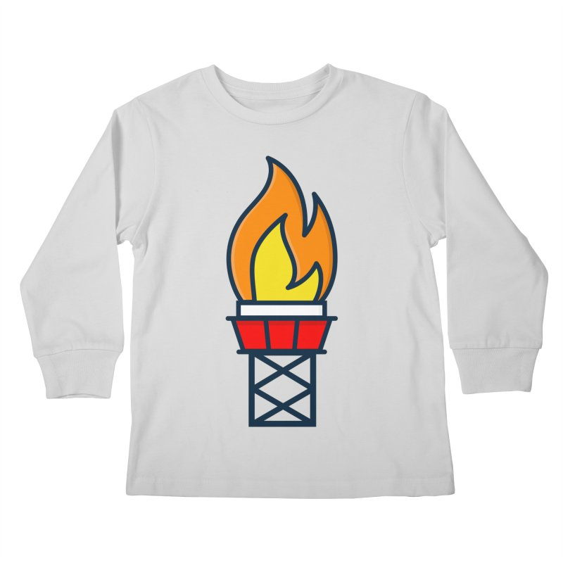 Olympic Torch Kids Longsleeve T-Shirt by