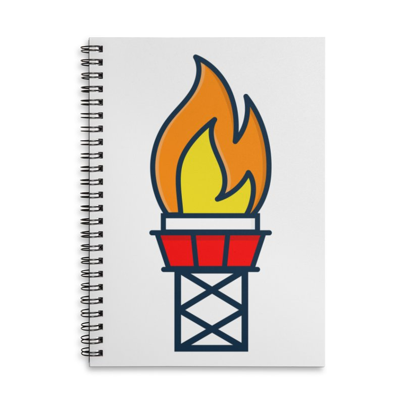 Olympic Torch Accessories Lined Spiral Notebook by