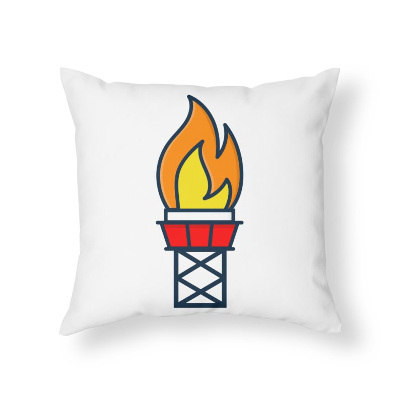 Olympic Torch Home Throw Pillow by