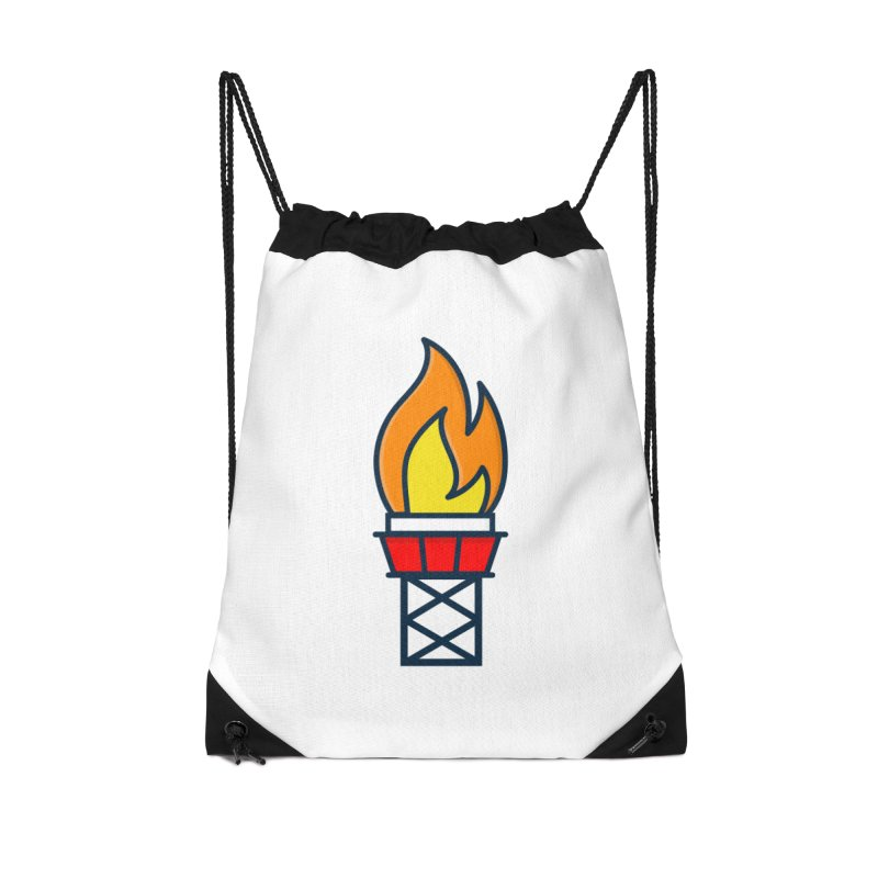 Olympic Torch Accessories Drawstring Bag Bag by