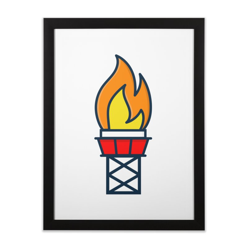 Olympic Torch Home Framed Fine Art Print by