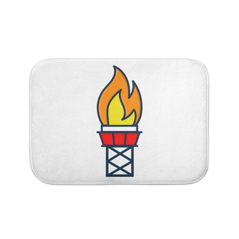 Olympic Torch Home Bath Mat by