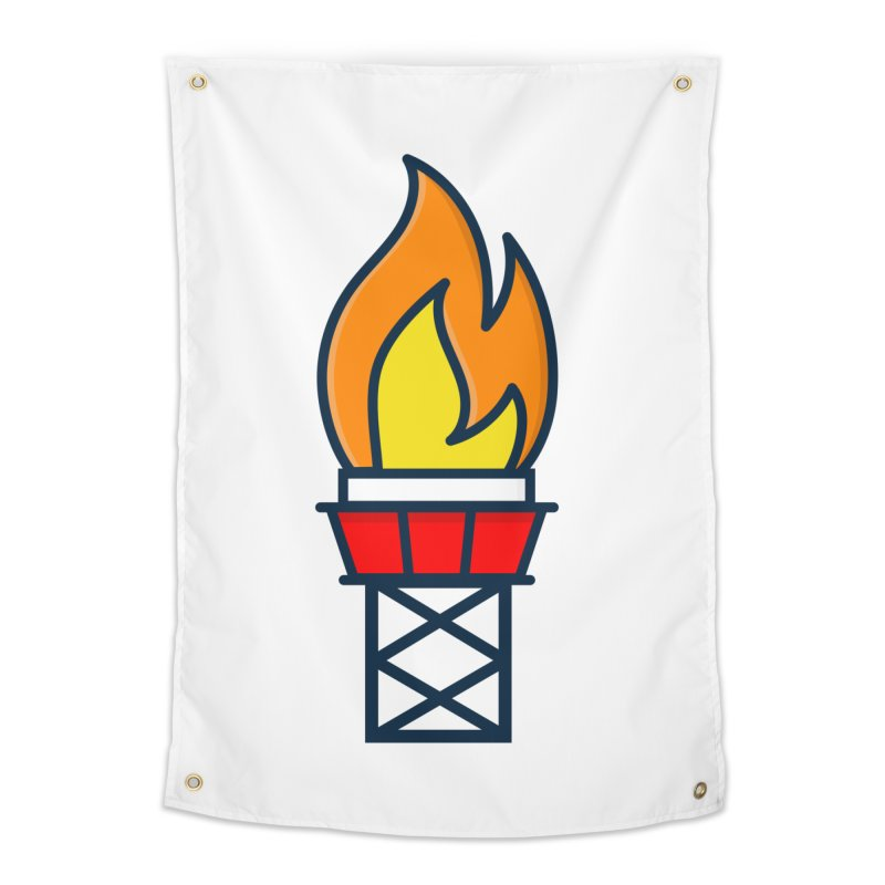 Olympic Torch Home Tapestry by