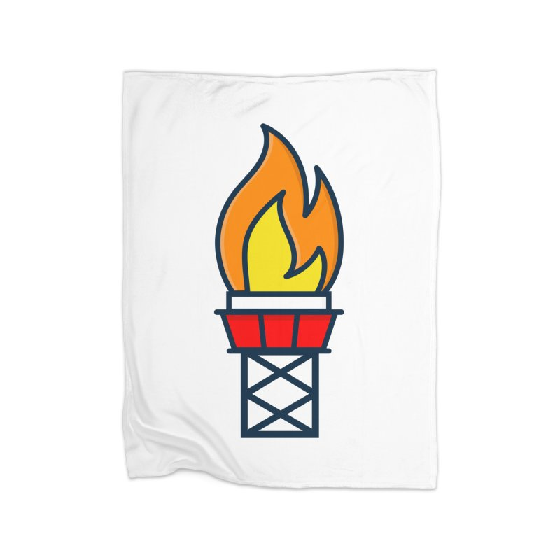 Olympic Torch Home Fleece Blanket Blanket by