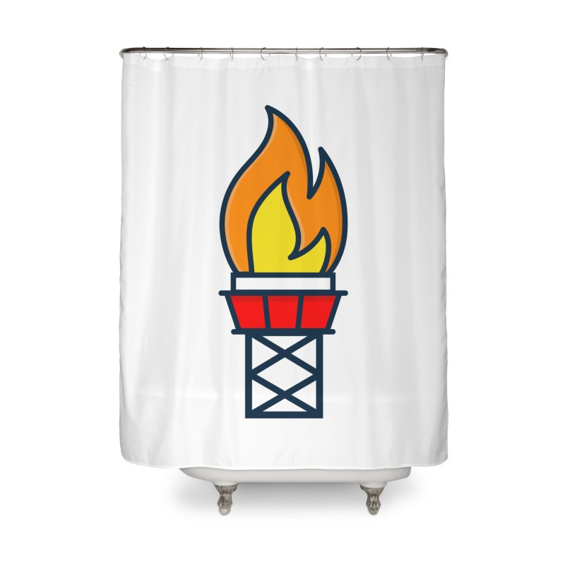Olympic Torch Home Shower Curtain by