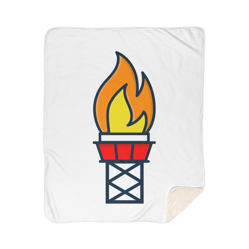Olympic Torch Home Sherpa Blanket Blanket by