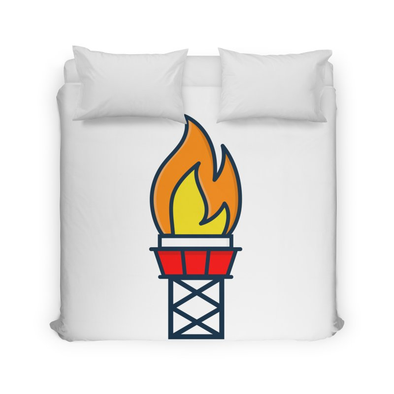 Olympic Torch Home Duvet by