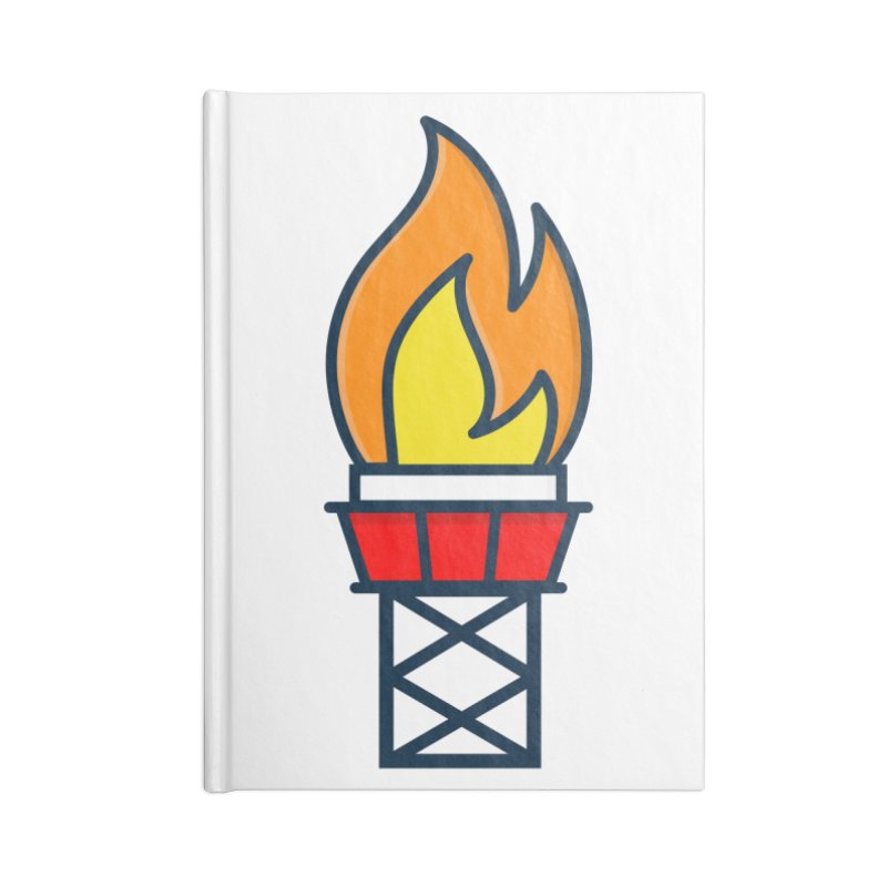 Olympic Torch Accessories Blank Journal Notebook by