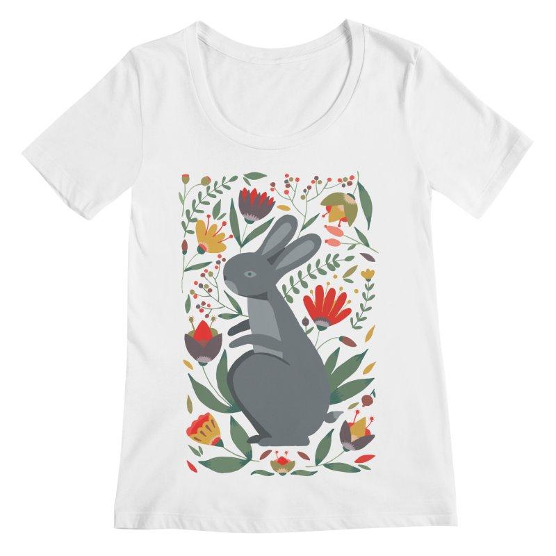 Bunny Women's Regular Scoop Neck by AnastasiaA's Shop