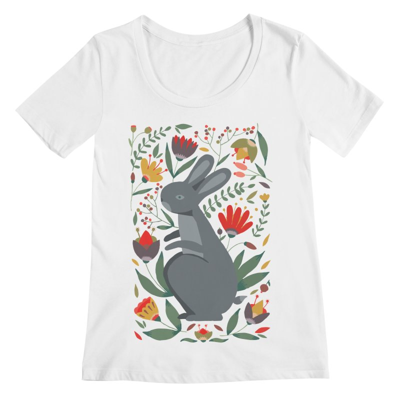 Bunny Women's Regular Scoop Neck by AnastasiaA's Shop