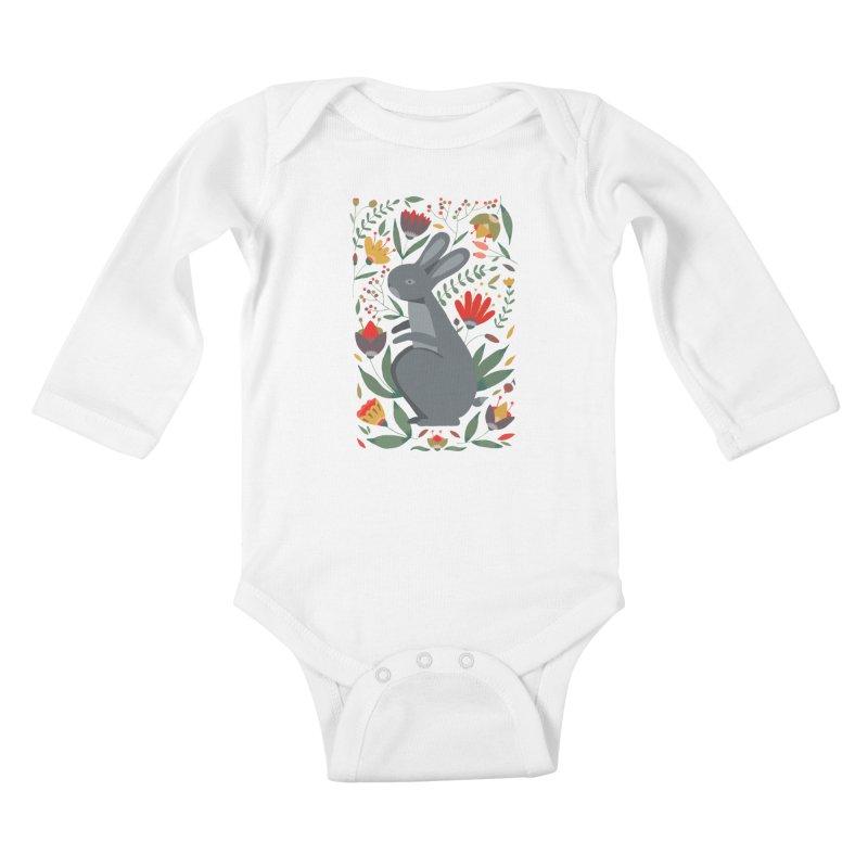 Bunny Kids Baby Longsleeve Bodysuit by AnastasiaA's Shop