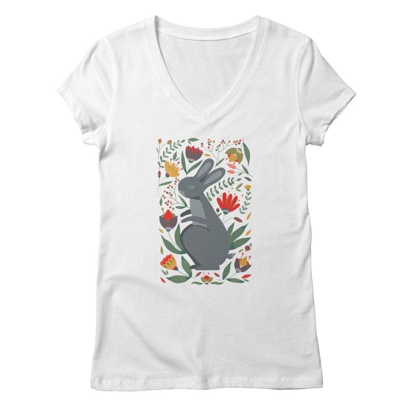Bunny Women's V-Neck by AnastasiaA's Shop