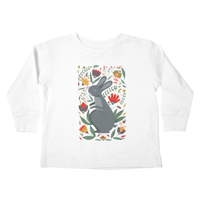Bunny Kids Toddler Longsleeve T-Shirt by AnastasiaA's Shop