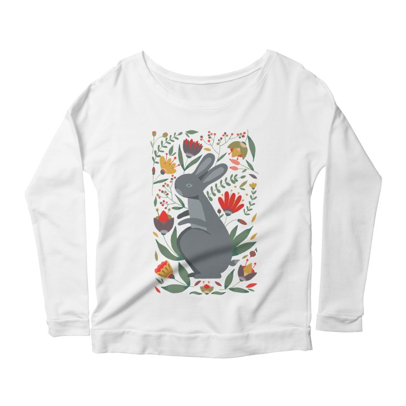 Bunny Women's Scoop Neck Longsleeve T-Shirt by AnastasiaA's Shop