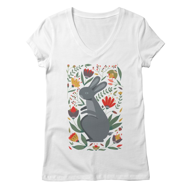 Bunny Women's Regular V-Neck by AnastasiaA's Shop