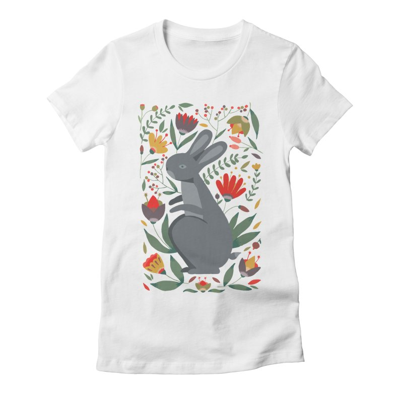 Bunny Women's Fitted T-Shirt by AnastasiaA's Shop
