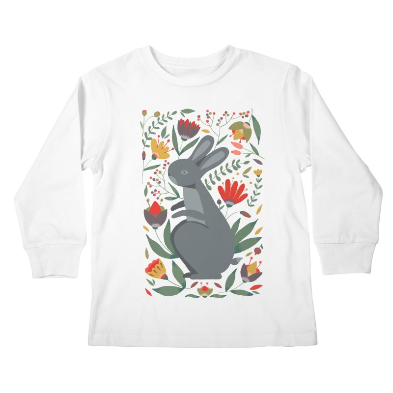 Bunny Kids Longsleeve T-Shirt by AnastasiaA's Shop