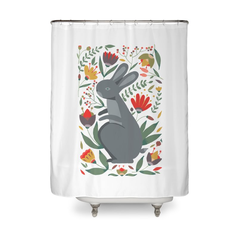 Bunny Home Shower Curtain by AnastasiaA's Shop
