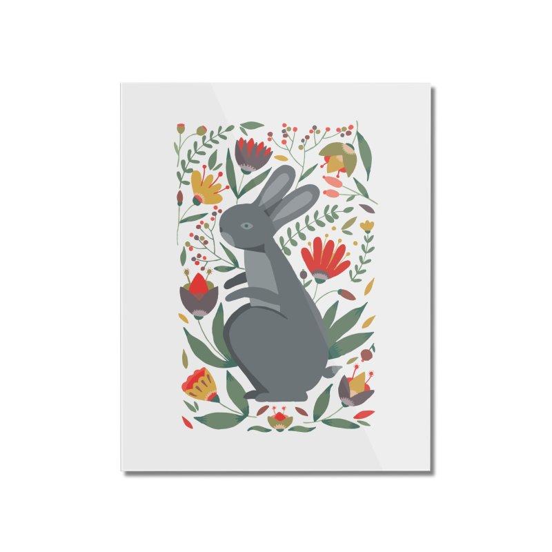 Bunny Home Mounted Acrylic Print by AnastasiaA's Shop