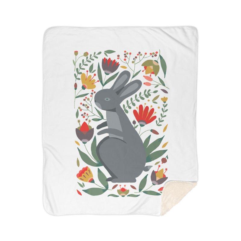 Bunny Home Sherpa Blanket Blanket by AnastasiaA's Shop