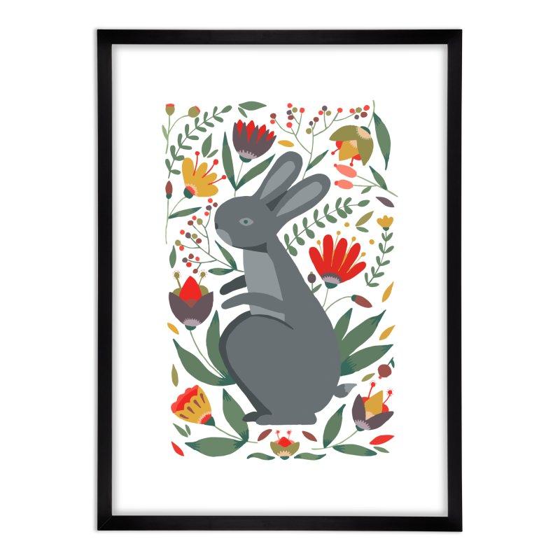 Bunny Home Framed Fine Art Print by AnastasiaA's Shop