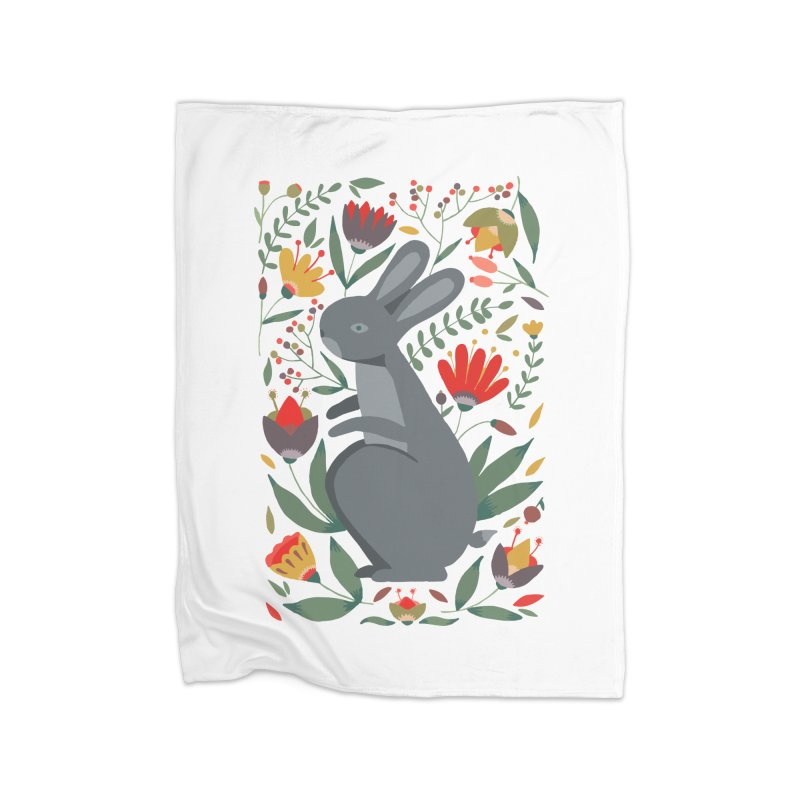 Bunny Home Blanket by AnastasiaA's Shop