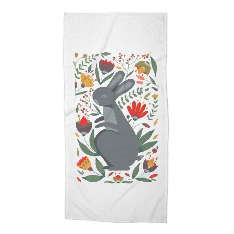 Bunny Accessories Beach Towel by AnastasiaA's Shop