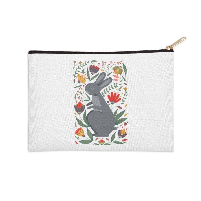 Bunny Accessories Zip Pouch by AnastasiaA's Shop