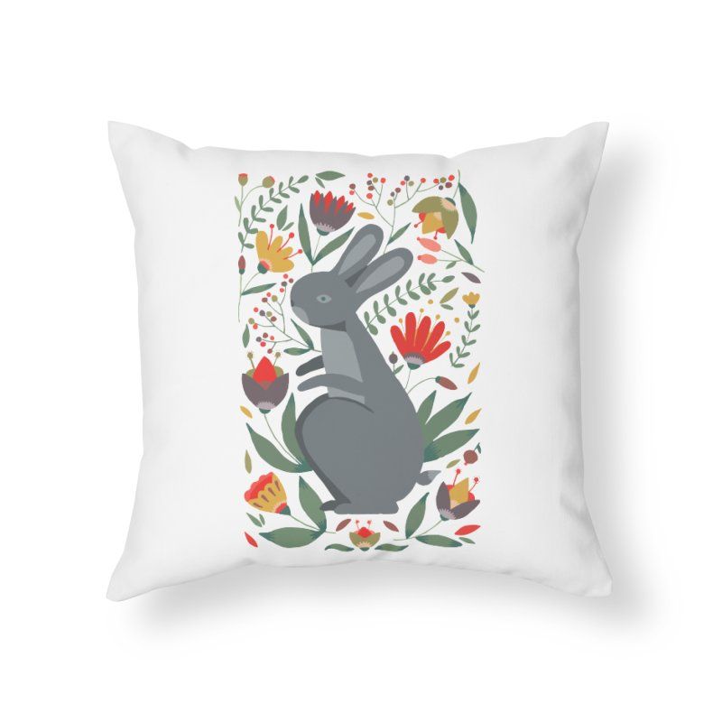 Bunny Home Throw Pillow by AnastasiaA's Shop