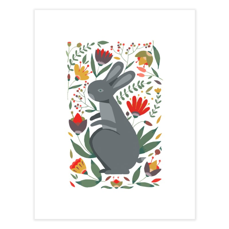 Bunny Home Fine Art Print by AnastasiaA's Shop