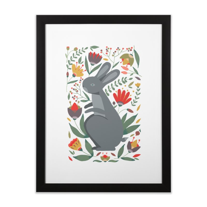 Bunny Home Framed Fine Art Print by AnastasiaA's Shop