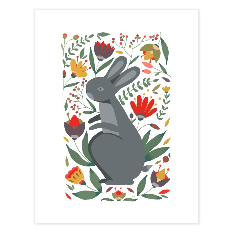 Bunny Home Fine Art Print by AnastasiaA's Shop