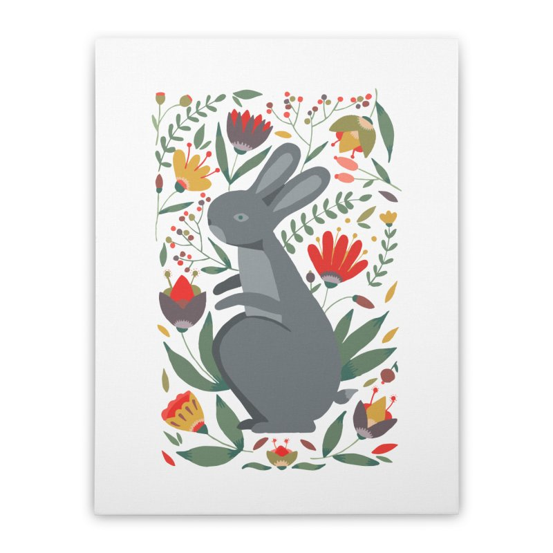 Bunny Home Stretched Canvas by AnastasiaA's Shop